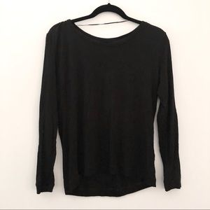Zara Thin Long Sleeve With Elbow Detail